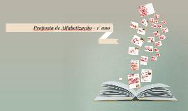 Proposta de Alfabetização - 1°