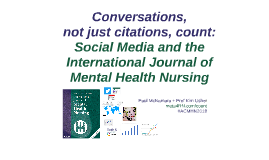 Conversations, not just citations, count: Social Media and the International Journal of Mental Health