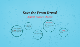 Save the Prom Dress