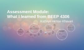 BEEP 4306 Assessment