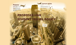 Student Travel Proposal