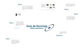Micro guía de reciclaje.