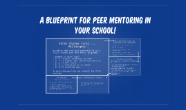 A Blueprint for peer mentoring in your school!