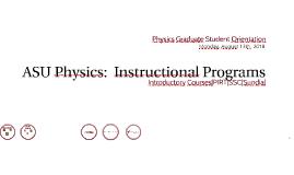 ASU Physics: Instructional Programs