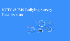 KCTC & IMS Bullying Survey Results 2015