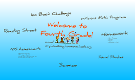 Copy of Welcome to Fourth Grade