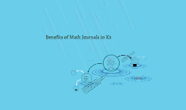 Can Math journals be used to support student success in the