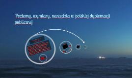 Poziomy, wymiary, narzędzia w polskiej dyplomacji publicznej