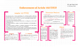 Copy of Recent Developments in the Enforcement of Article 102