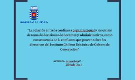 """""""La relación entre la confianza organizacional y los estilos"""