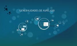 GENERALIDADES DE ASPEL COI