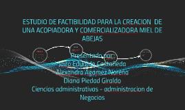 ESTUDIO DE FACTIBILIDAD PARA LA CREACION  DE UNA ACOPIADORA