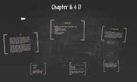 Chapter 16 & 17