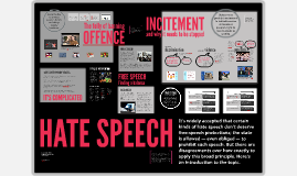 Hate speech / Offence / Incitement