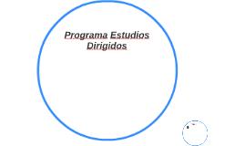 Programa Estudios Dirigidos