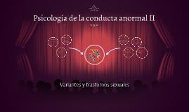 Psicología de la conducta anormal II