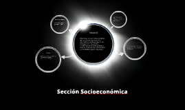Sección socioecónomica