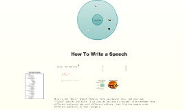 How to Write an Outline/Speech