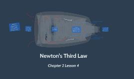 Lesson 4 - Newton's Third Law