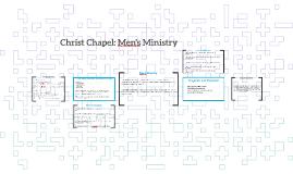 Christ Chapel: Men's Ministry