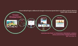 Copy of A korai iskolaelhagyás csökkentését támogató intézményi gyakorlatok nemzetközi projektek tükrében