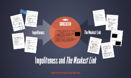 Impoliteness and The Weakest Link