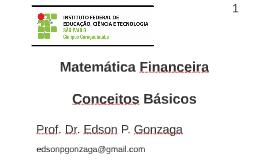 Matemática Financeira 1
