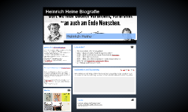 heinrich heine biografie by paula wirtz on prezi - Heinrich Heine Lebenslauf
