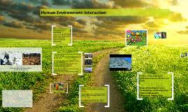 Human Environment Interaction 2016-17