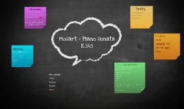 Mozart - Piano Sonata K.545
