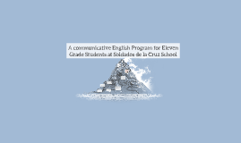 A communicative English Program for Eleven Grade Students at