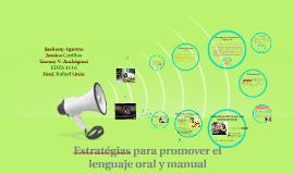 Estratégias para promover el lenguaje oral y manual