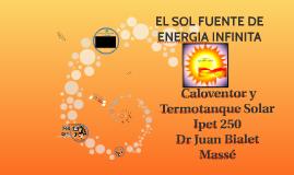 El sol fuente infinita de Energía