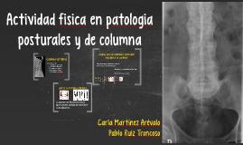 Actividad fisica en patologia posturales y de columna