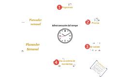 Copy of Administración del tiempo