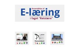 """E-læringstiltag i faget """"Retslære"""""""