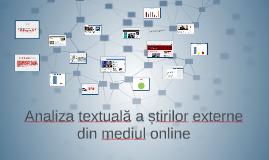 Analiza textuală a știrilor externe din mediul online