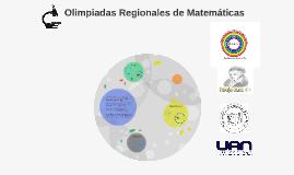 Olimpiadas Regionales de Matematicas