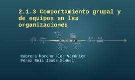2.1.3 Comportamiento gurpal y de equipos en las organizacion