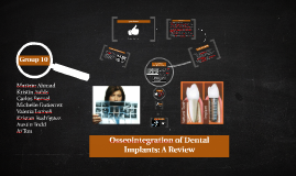 Copy of Copy of Osseointegration of Dental Implants