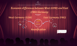 Economic diffrences between East and West germany