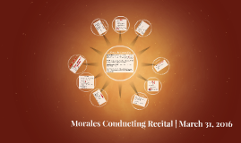 Morales Recital | March 31, 2016