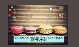 Copy of Una buena nutrición vs una mala nutrición.