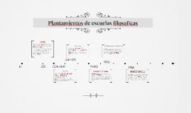 Plantamientos de escuelas filosoficas