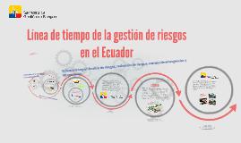 Evolución de la Gestión de Riesgos en el Ecuador