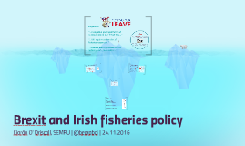 Brexit and Irish fisheries policy