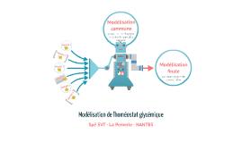 Copy of Modélisation initiale de l'homéostat glycémique