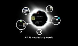All 20 vocab words