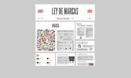 LEY DE MARCAS
