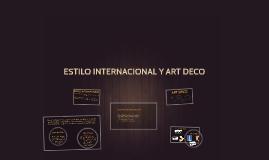 Estilo internacional y art deco